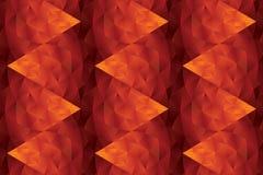Abstract heet rood geometrisch naadloos patroon vector illustratie