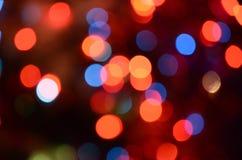 Abstract helder cirkelbokehonduidelijk beeld als achtergrond Stock Foto's