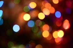 Abstract helder cirkelbokehonduidelijk beeld als achtergrond Stock Afbeelding