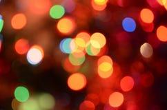 Abstract helder cirkelbokehonduidelijk beeld als achtergrond Stock Fotografie