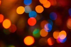 Abstract helder cirkelbokehonduidelijk beeld als achtergrond Stock Foto