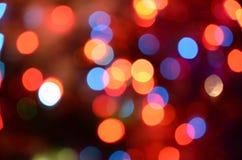 Abstract helder cirkelbokehonduidelijk beeld als achtergrond Stock Afbeeldingen