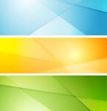 Abstract helder gestreept bannersontwerp Stock Foto's