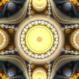 Abstract helder multicolored fractal computer geproduceerd beeld Royalty-vrije Stock Afbeelding
