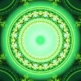 Abstract helder multicolored fractal computer geproduceerd beeld Stock Afbeelding