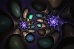 Abstract helder multicolored fractal computer geproduceerd beeld, achtergrond voor tekstetiketten Stock Afbeeldingen