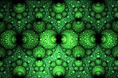 Abstract helder multicolored sferisch fractal computer geproduceerd beeld Stock Afbeeldingen