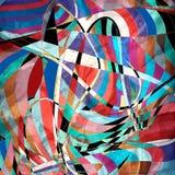 Abstract helder ongebruikelijk patroon met golvende elementen royalty-vrije stock foto