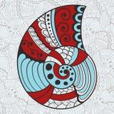 Abstract Helder Shell op Naadloos   Patroon Royalty-vrije Stock Afbeeldingen