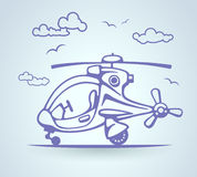 Abstract helicopter, stylization, vector Stock Image