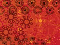 Free Abstract Henna Background Royalty Free Stock Photos - 9298728