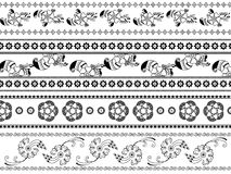 Abstract henna blocks background Stock Images