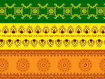 Abstract Henna Borders Stock Images