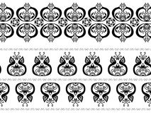 Abstract henna borders Royalty Free Stock Photos