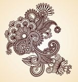 Abstract Henna Design Element Stock Images