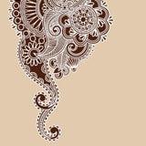 Abstract Henna  Illustration Design Stock Image