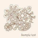 Abstract Henna Mehndi Abstract Flowers Stock Photography