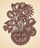 Abstract Henna Mendie Flowers Stock Photos