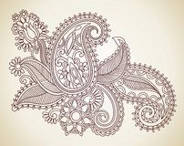 Abstract Henna Mendie Flowers Royalty Free Stock Photography