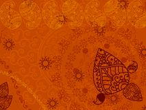 Abstract henna paisley background Royalty Free Stock Photography