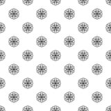 Abstract herb flower pattern seamless. Repeat background for any web design vector illustration