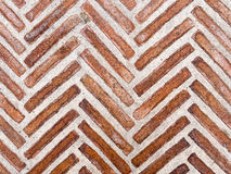 Abstract Herring Bone Brick Pattern. Abstract herring bone pattern made by red bricks set into a footpath. Toledo, Spain Stock Photos