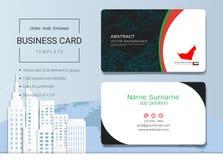 Abstract het adreskaartje van de V.A.E of van de naamkaart malplaatje Stock Afbeelding