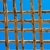 abstract het bamboedak van Marokko in de hemel van Afrika Royalty-vrije Stock Foto's