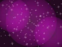 Abstract het Fonkelen van de Sterren Lilac Vakantie bokeh effect Als achtergrond Stock Foto's