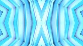 Abstract het golven 3D veelhoekig blauw net of netwerk van pulserende geometrische voorwerpen Gebruik als abstracte cyberspace ge royalty-vrije illustratie