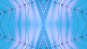 Abstract het golven 3D veelhoekig blauw net of netwerk van pulserende geometrische voorwerpen Gebruik als abstracte cyberspace ge vector illustratie