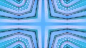 Abstract het golven 3D veelhoekig net of netwerk van pulserende geometrische voorwerpen Gebruik als abstracte cyberspace geometri stock illustratie