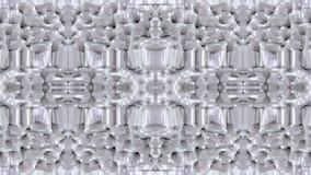Abstract het golven 3D wit veelhoekig net of netwerk van pulserende geometrische voorwerpen Gebruik als abstracte cyberspace geom vector illustratie