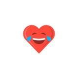 Abstract het hartpictogram van de valentijnskaart` s dag emoticon stock illustratie