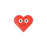 Abstract het hartpictogram van de valentijnskaart` s dag emoticon vector illustratie