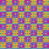 Abstract het herhalen patroon van multi-colored lijnen, vierkanten en c Vector Illustratie