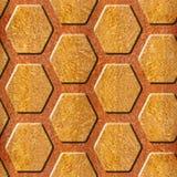 Abstract het met panelen bekleden patroon - Decoratief hexagonaal net Stock Afbeelding