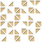 Abstract het met panelen bekleden patroon - Decoratieve driehoekige stijl royalty-vrije illustratie