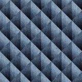 Abstract het met panelen bekleden patroon - naadloos patroon - Blauwe denimjeans stock illustratie