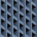Abstract het met panelen bekleden patroon - naadloos patroon - jeansdoek royalty-vrije illustratie