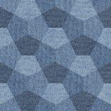 Abstract het met panelen bekleden patroon - naadloos patroon, jeanstextiel stock illustratie