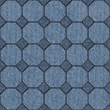 Abstract het met panelen bekleden patroon - naadloos patroon, jeanstextuur vector illustratie