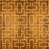 Abstract het met panelen bekleden patroon - naadloze achtergrond - cassettevloer Stock Foto's