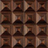 Abstract het met panelen bekleden patroon - piramidaal patroon, Ebbehouten houten textuur Royalty-vrije Stock Foto's