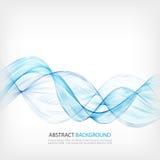 Abstract het ontwerpelement van de kleurengolf Blauwe golf vector illustratie