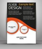 Abstract het ontwerpmalplaatje van de Brochurevlieger Stock Foto