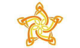 Abstract het ontwerpmalplaatje van het sterembleem Royalty-vrije Stock Afbeeldingen