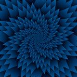 Abstract het patroon blauw van stermandala decoratief vierkant beeld als achtergrond, het beeldpatroon van de illusiekunst, achte vector illustratie