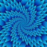 Abstract het patroon blauw van stermandala decoratief vierkant beeld als achtergrond, het beeldpatroon van de illusiekunst, achte Stock Afbeeldingen