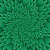 Abstract het patroon groen van stermandala decoratief vierkant beeld als achtergrond, het beeldpatroon van de illusiekunst, achte vector illustratie